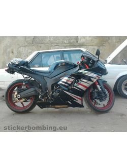 Set of stickers for moto: Kawasaki Ninja ZX-6R Special Edition 2008