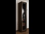 Шкаф ширина 40 - 45 см книжный со стеклом витраж ШкКн(1)№1