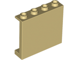 Panel 1 x 4 x 3 with Side Supports - Hollow Studs, Tan (60581 / 6146877)