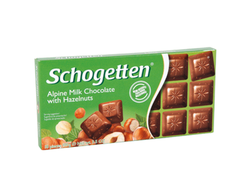 Schogetten Alpine Milk Chocolate with Hazelnut