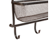 200506 SHELF 2 LEVELS W/HOOK VALENS BROWN 51X15.5X76 IRON