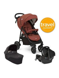 Joie Litetrax 4 автокресло Gemm + люлька Joie Ramble Travel System 3 в 1