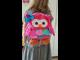 Детский рюкзак для девочки сова розовый Sozzy