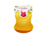Силиконовый нагрудник для кормления roxy kids желтый