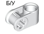 ! Б/У - Technic, Axle and Pin Connector Perpendicular, White (6536 / 4173670 / 653601 / 65361) - Б/У
