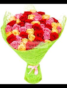 Яркий (51 роза)