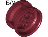 ! Б/У - Wheel 43.2mm D. x 26mm Technic Racing Small, 6 Pin Holes, Dark Red (56908 / 4644089) - Б/У