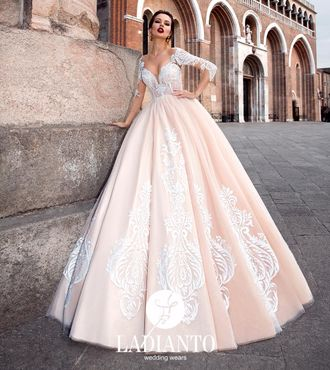 fc49f2655b9 Свадебное платье оттенка кофе с рукавами
