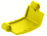 Technic, Panel Curved 3 x 6 x 3, Yellow (24116 / 6133245)