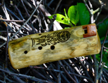 Wooden ocarina in C# major scale