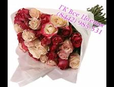 51 ярко розовая роза Совершенство