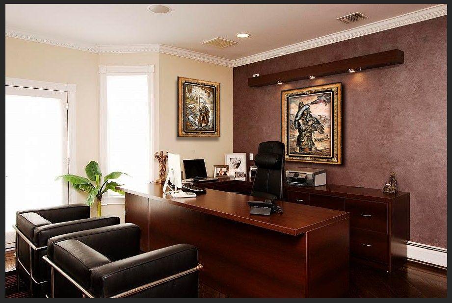 оформить офис картинами