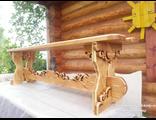 Резная скамейка из дерева своими руками 38