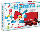 "Сега-8 bit из 90-х ""Hamy 4"" (350-in-1) Angry Birds Red"