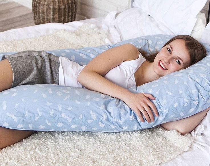 b8b872613b0 Подушка для беременных U, наполнитель пух или холлофайбер ...