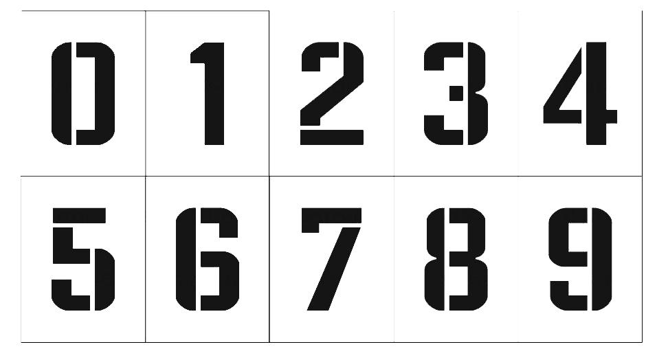 Как сделать трафарет цифры