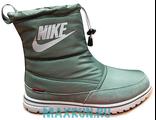 Дутики Nike с мехом серые