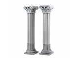 Two antique columns (unpainted)