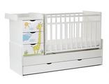 Кровать детская маятник СКВ-5  ЖИРАФ Белый