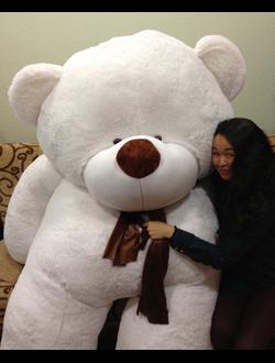Большой белый медведь Зевс (220 см)