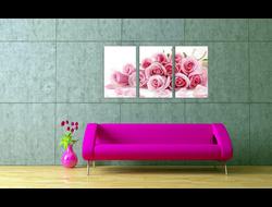 """Картина по номерам """"Нежные розы"""" триптих 4050 см 3 штуки"""