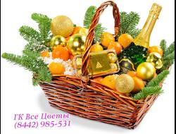 Подарочная корзина на Новый Год или Рождество