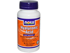 NOW Hyaluronic Acid 100 mg 2x Plus 60 капс.