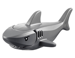 Shark with Gills and Black Eyes with White Pupils Pattern  Complete Assembly , White (14518c01pb01)