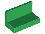 Panel 1 x 2 x 1 with Rounded Corners, Green (4865b / 4522673 / 6146227)