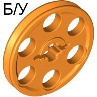 ! Б/У - Technic Wedge Belt Wheel (Pulley), Orange (4185 / 4494218 / 4540424) - Б/У