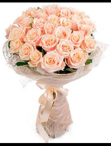 Кремовый (29 роз)