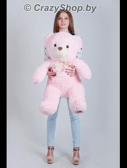 Плюшевый мишка Маттео розовый 110 см