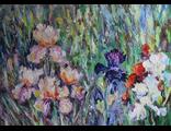 "Круглова Светлана. ""Ирисы в саду"",  холст / масло,  50 х 70 см.,  2016 г."