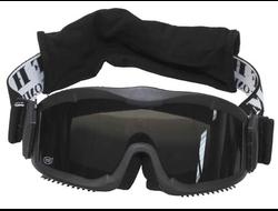 Очки защитные Thunder deluxe MFH черного цвета