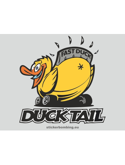 """Fast duck"" Car Stickers"