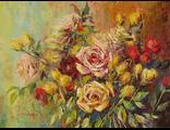 """Круглова Светлана. """"Розовый поцелуй"""",  холст / масло,  45 х 60 см.,  2016 г."""