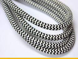Текстильные ретро провода зиг-заг