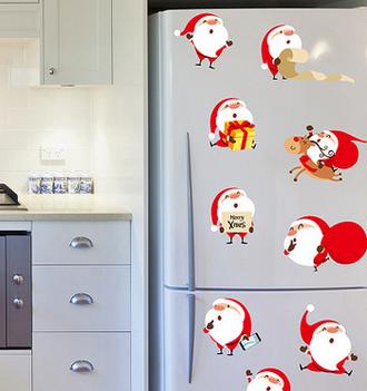 Наклейка 'Деды морозы - мультяшки'