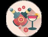 Купить ПОДАРОЧНЫЙ СЕРТИФИКАТ (индивидуальный билет) на участие в праздничной дегустации цветочно-фруктовых блюд, десертов, напитков
