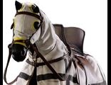 Тевтонский боевой конь (черный) - коллекционная фигурка 1/6 War Horse - Black Horse for Teutonic Knights (Item No.: H03A) - ACI Toys