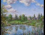 "Круглова Светлана. ""Деревенька моя"", холст / масло, 40 х 50 см., 2011 г."