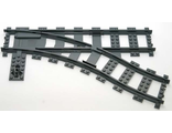 Train, Track Plastic (RC Trains) Switch Point Right, Dark Bluish Gray (53404 / 4293593 / 4516101 / 6085188)