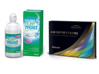 Air Optix Aqua Colors + Opti-Free Pure Moist 120мл