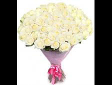 Букет Шарм 25 белых роз