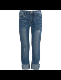 Брюки-джинсы для малтчика синий деним Button Blue