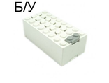 ! Б/У - Electric 9V Battery Box Small with Red  5  Pattern  Sticker  - Set 6440, White (4760c01pb08) - Б/У