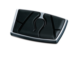 7518 Kuryakyn Flamin' Brake Pedal Pad, Chrome