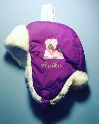 Теплая зимняя шапка-ушанка Reike цвет Purple Cat