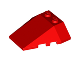 Wedge 4 x 4 Triple with Stud Notches, Red (48933 / 4223486)