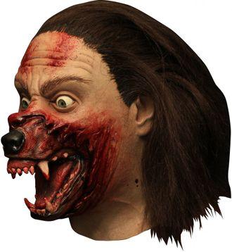 оборотень, волк, маска, страшная, ужасная, масочка, с волосами, клыки, кровь, жуткая, реалистичная